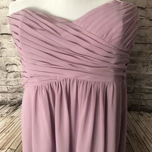 Alfred Angelo Lavender Dress Chiffon Strapless 20W